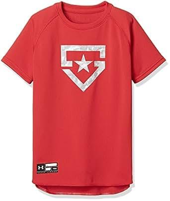 (アンダーアーマー)UNDER ARMOUR ベースボールTシャツ<SOLID>(ベースボール/Tシャツ/BOYS)[1313615] RED YLG