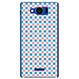携帯電話taro au AQUOS PHONE SERIE mini SHL24 ケース カバー (ギンガムチェック B/ソフトブルー×ペールピンク) SHARP SHL24-YSZ-0031