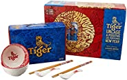 Tiger Beer Limited Edition CNY Pack, 320ml, (Pack of 24) [FREE PROSPERITY BOWL SET]