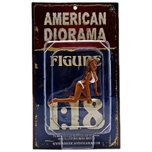 1/18 American Diorama Car Wash Girl - Barbara 女性 洗車ガール フィギュア 模型