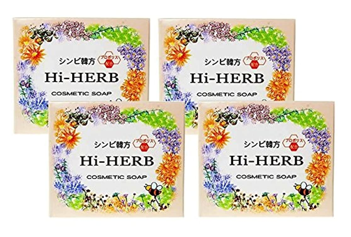 適応するいいね統治可能【シンビ】韓方ハイハーブ石鹸 100g×4個セット