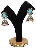 e71–EaringsストーンインドのイヤリングセットJhumki Jhumka BollywoodジュエリーPolki Hand Madeビーズ