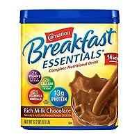 Carnation Breakfast ESSENTIALS Chocolate Powder, 17.7-Ounce Jar (Pack of 3) by Carnation Breakfast Essentials