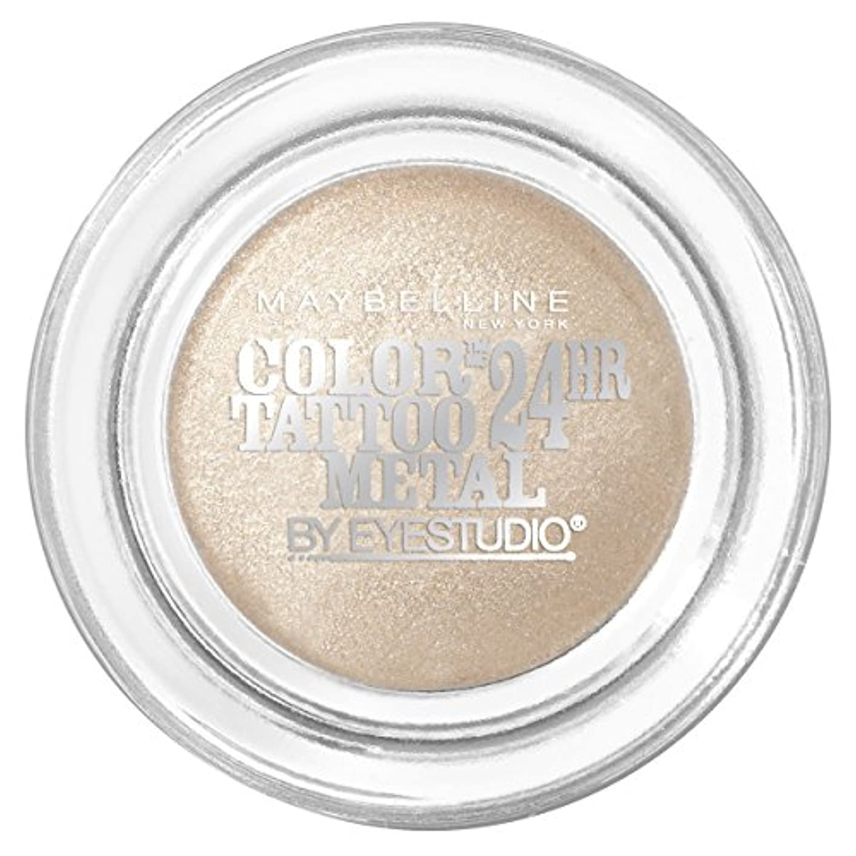 暖炉日帰り旅行に航空MAYBELLINE Eye Studio Color Tatoo Metal 24Hr Cream Gel Eye Shadow - Barely Branded (並行輸入品)