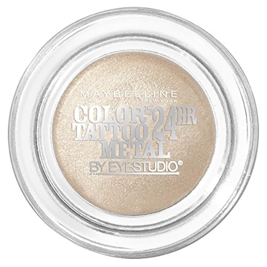 マガジン回復する統計的MAYBELLINE Eye Studio Color Tatoo Metal 24Hr Cream Gel Eye Shadow - Barely Branded (並行輸入品)