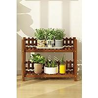 木製フラワーラック室内植物スタンド木製植物フラワーディスプレイスタンド木製ポットシェルフストレージラック屋外 (サイズ さいず : 70 * 25 * 52cm)