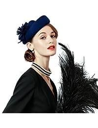 ベレー帽 礼装帽子 トークハット ヘッドドレス ブルー系