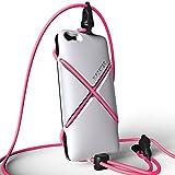 XPORTER スポーツ用ストラップ・ホルダー for iPhone 5/5S/5C ランニング・ジョギング・サイクリングに最適 (ホワイト&ピンク)