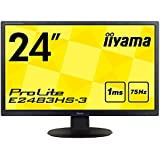 iiyama モニター ディスプレイ E2483HS-B3(24インチ/フルHD/TN/HDMI,D-sub,DisplayPort/3年保証)