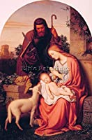 Franz Ittenbach The Holy Family Artist Painting Reproductionハンドメイドオイルキャンバス 24x16inch US02810-a
