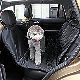 marsboy ペット用 ペットドライブシート 後部座席シートカバー 防水 汚れに強い 135*146cm 車用 後部座席用 掛けるだけ 水洗い可能 PVC素材 愛犬とドライブ♪ ブラック
