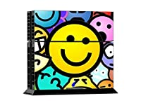 MODFREAKZ? Console and Controller Vinyl Skin Set - Colored Happy Smiley for Playstation 4 [並行輸入品]