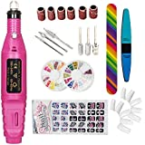 iMeshbean Electric Nail Art Drill File Kit Buffer Acrylics 6 File Pedicure Machine Tool Nail Polisher with Extra Gifts