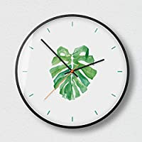 壁掛け時計壁掛け時計家庭用ミュート壁掛け時計リビングルームベッドルームシンプルモダン装飾吊りテーブル金属クォーツ時計ラウンド12インチ30cm