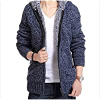Surprise S Men's Thick Sweater Collar Thick Sweater Cardigan Men's Jacket Warm Sweater