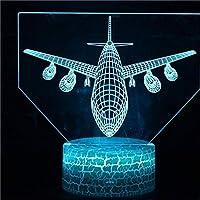 Wxmca 3D 7色ランプ装飾クリスマスプレゼント子供のおもちゃ
