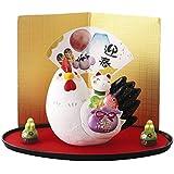 柚子舎 干支 置物 干支の置物 招福 縁起 風水 十二支 置物 干支 陶器 飾り 贈答品
