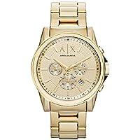 ARMANI EXCHANGE Men's AX2099 Year-Round Chronograph Quartz Gold Band Watch