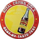 【ブリキ看板】Royal Crown Cola/ロイヤルクラウン・コーラ 丸型 [並行輸入品]
