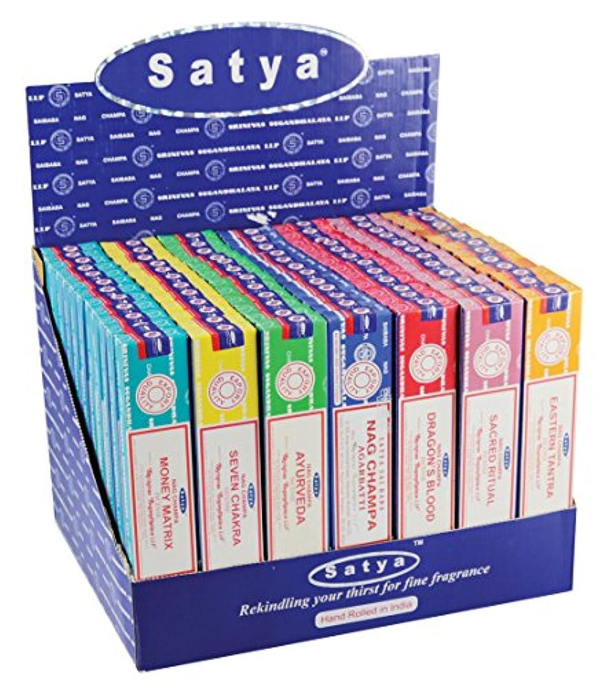 腹痛ブランクフリース84pc表示 – Satya Incense VFMシリーズ1 – 15 gm/Assorted