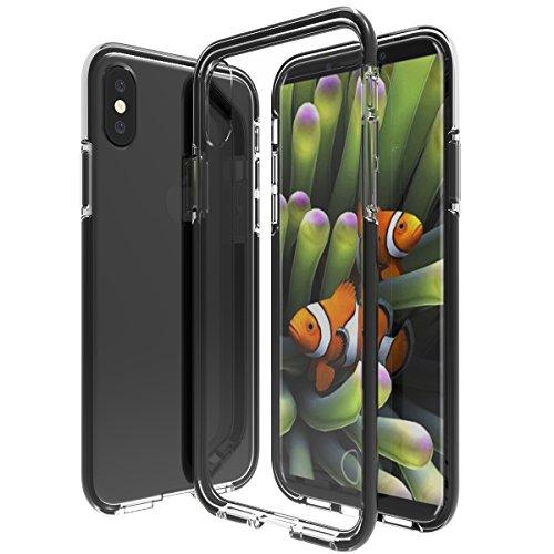 【KuGi】iPhone8 ケース iPhone x Edition ケース iPhone 8 カバー 衝撃吸収バンパー 薄型軽量 TPU+TPE製 二重保護ケース 透明ソフトケース