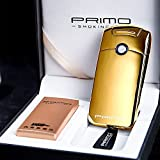 MIFO パルスライター 電子ライター 充電式 ヘアライン 鏡面仕上げ 高級 ライター (ゴールド) MIFO-PRM011-GD