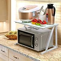 PENGFEI オープンシェルフラック キッチン収納りキッチンラック収納棚キッチンラックワゴン電子レンジ オーブン 多機能、 2層、 60 * 37 * 37cm 12色 家具スパイスキッチン (色 : D)