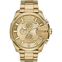 Diesel Men's Mega Chief Analog Analog-quartz Gold Watch, (DZ4360)