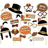 BinaryABC感謝祭写真ブース小道具、感謝祭装飾、29pcs