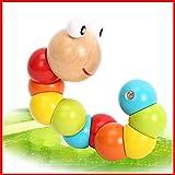 Viviseason (ビビシーズン) まるで本当の毛虫 体をくねらせる 子供 おもちゃ パズル