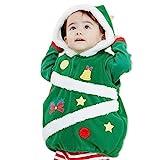 クリスマス ツリー ベビー キッズ 子供服 コスチューム コスプレ おもしろ なりきり ベスト 長袖Tシャツ レギンス 3点セット フリース グリーン 95cm 1065820607GR95