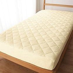 (ニッセン) nissen ボックスシーツ 敷きパッド 一体型 パイル地 綿100% アイボリー シングル