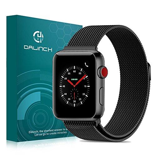 Apple Watch 42mm バンド Dalinch Apple Watch バンド 金属バンド 高級感なステンレス ビジネスに向け 交換バンド 装着簡単 Apple Watch Series 3/2/1対応(ブラック)