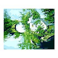 キャンバス デジタル絵画 DIY 手塗り フレームレス アート 塗料付き 全13スタイル - #10