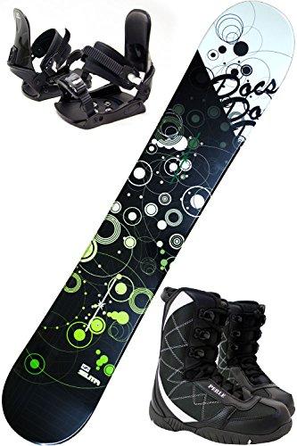 スノボ3点セット ZUMA DOCS ブラック/グリーン 1...