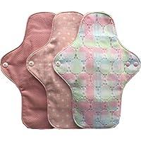 すぃーと・こっとん 布ナプキン 無漂白ホワイト/ピンク 一体型 布ナプキン 昼用3枚セット(ローザレース)
