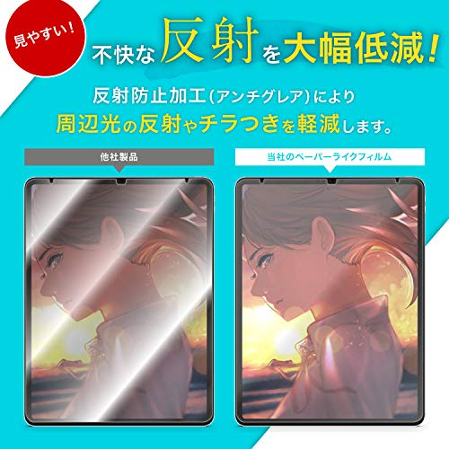 『「キングダムフィルム」 iPad Pro 12.9 (2018) ペーパーライク保護フィルム 紙のような描き心地 反射低減 アップルペンシル(apple pencil)対応 貼付け失敗時 1枚無料交換 日本製』の2枚目の画像