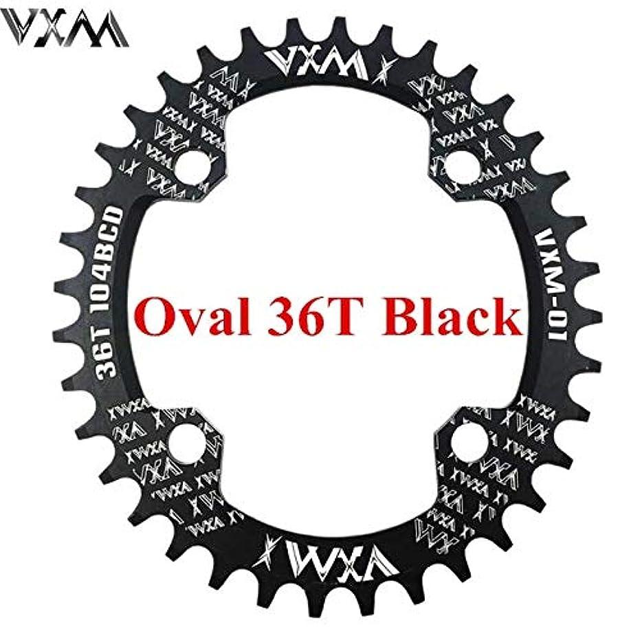 惑星一般的なくさびPropenary - 自転車104BCDクランクオーバルラウンド30T 32T 34T 36T 38T 40T 42T 44T 46T 48T 50T 52TチェーンホイールXT狭い広い自転車チェーンリング[オーバル36T...