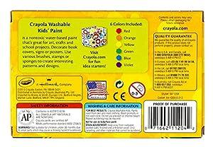 クレヨラ お絵かき 水でおとせるキッズ絵の具 6色セット (クラシックカラー) Washable Kid's Paint 6 Classic Colors 541204