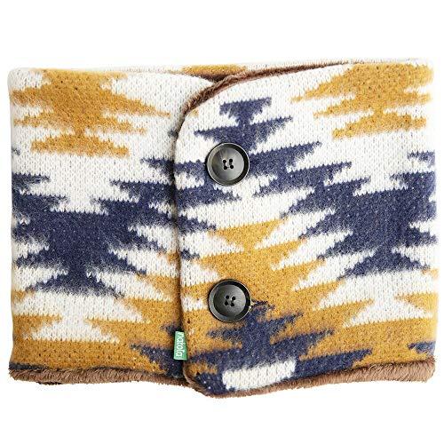 nakota (ナコタ) ボタン付き マイクロボア ネックウォーマー 【オルテガブルー】 スヌード マフラー メンズ レディース 冬