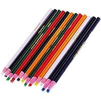 Baosity 油性クレヨン マーク鉛筆 マークチョーク 色鉛筆 削り器必要ない 裁縫マーク 生地 24本入り