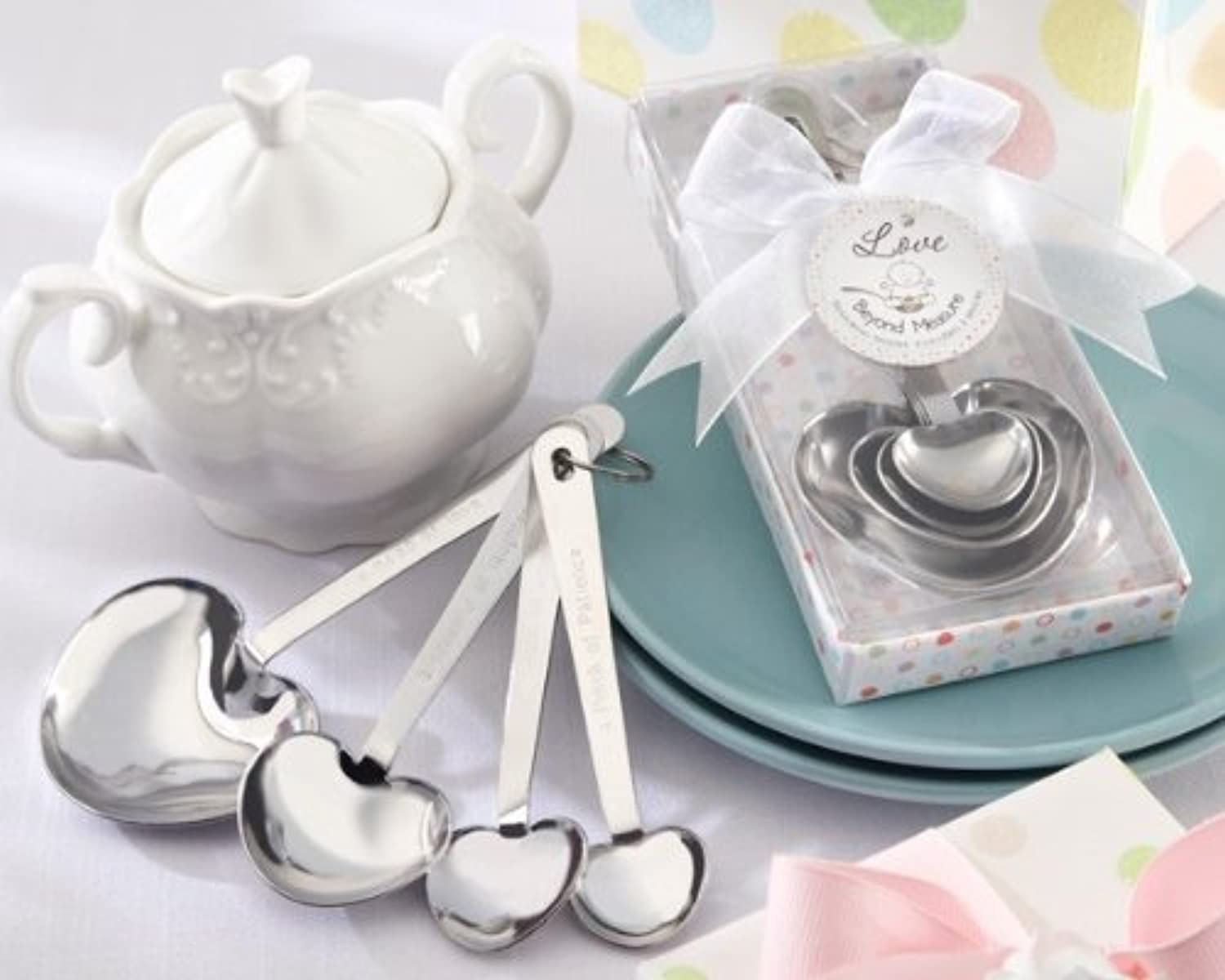 Love Beyond Measure Stainless-Steel Measuring Spoons Baby Shower Favor - Total 48 sets by Kateaspen [並行輸入品]