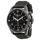 (アルピナ) ALPINA 腕時計 Startimer Pilot Black Dial Black Fabric Strap Men Watch Startimerパイロットブラックはブラックファブリックストラップ男性腕時計のダイヤル AL372B4FBS6 [並行輸入品] DOLZIKGOO