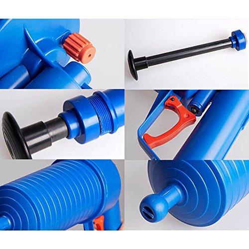 パイプクリーナー 加圧式 パイプレスキュー 4種類のラバーパーツ 洗面台 浴槽 排水口 排水管 パイプ つまり解消 疏通ツール 台所 洗面台 トイレ 様々な場所に使用可能