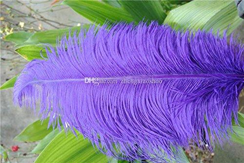 Wholesale-Prefect 100 PC / ロット紫ダチョウ羽毛 18-20 インチ( 45-50 cm )結婚式のテーブルのセンターピースの装飾のセンターピース羽毛羽毛の 1 ロット