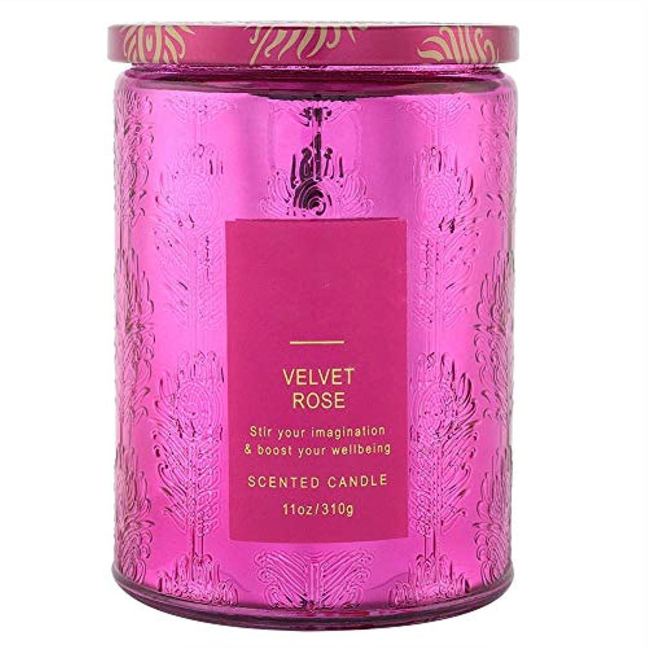 同封する練る引き出す繊細な香りのキャンドル、透明なガラス瓶入りの甘い花の長続きするフレグランスワックス