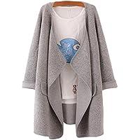 Gillberry Women's Jacket Women's S Solid Lapel Loose Sweater Outwear Blouse