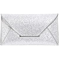 St. Jubileens Women Glitter Sequins Envelope Evening Bag Handbag Party Bridal Clutch Purse