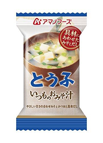 アマノフーズ フリーズドライ 味噌汁 いつものおみそ汁 とうふ 10g×60食セット (即席 味噌汁)