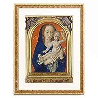 フーゴー・ファン・デル・グース Hugo van der Goes 「Triptych with Madonna and Child. Central panel. About 1479」 額装アート作品